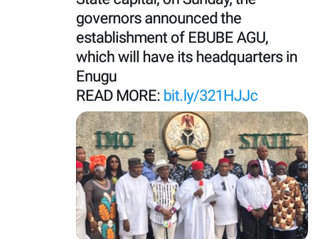 South-East Governor Launch Regional Security Outfit- EBUBE AGU