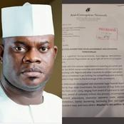 See people's reactions as a petition was filed against the governor of Kogi State Yahaya Bello.