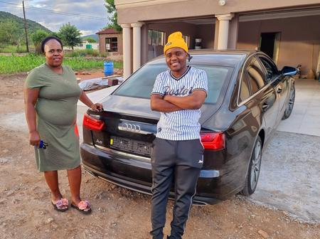 A coach who is a forex trader bought his mom an Audi A6 just to thank her for slapping her.(see why)