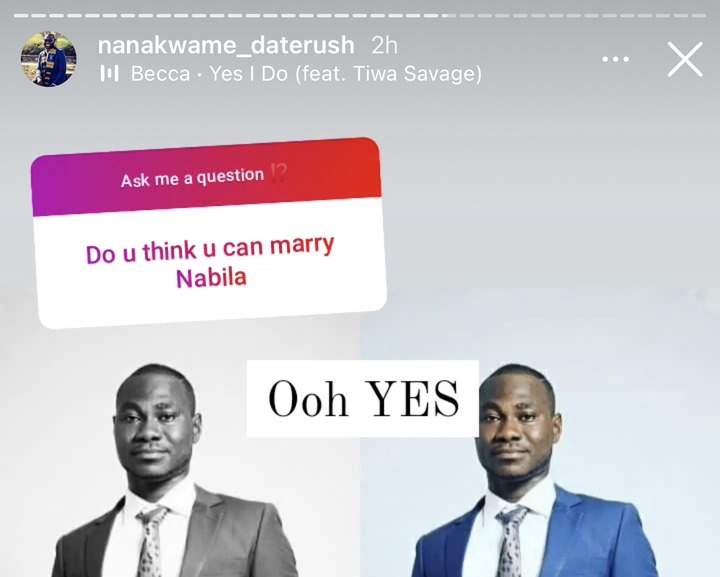 a5e5080896a349c990df7b877edf29cb?quality=uhq&resize=720 - I Want To Future Nabila As My Wife, I Can Marry Her - Nana Kwame Of Date Rush To The American Lady
