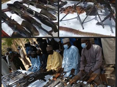 Where Are Bandits Seeing Expensive Weapons? See The Weapons Repentant Bandits Surrendered In Katsina
