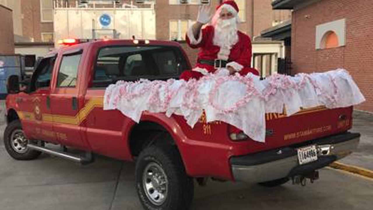 Santa visit drive thru Christmas party for Special Tuesday participants