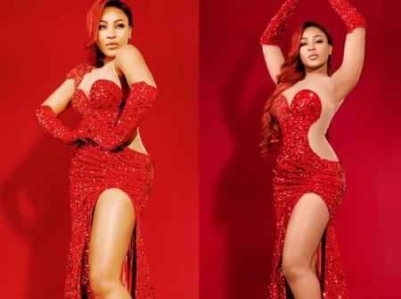 Checkout Two Things That People Noticed After Erica Posed In A Beautiful Red Outfit For Valentine