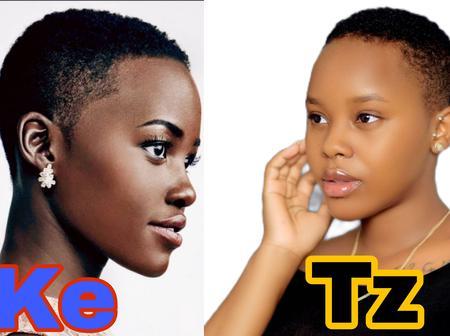 Kenyan vs Tanzanian Celebrities Short hair Challenge