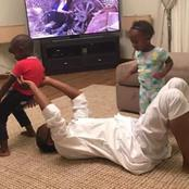 Cute Photos of Gov El-Rufai And Yahaya Bello Playing with their Children