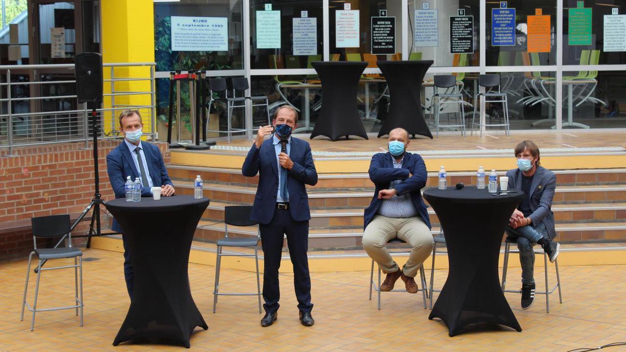 Thibaut Guilluy, Haut-commissaire à l'emploi, lance à Hénin-Beaumont le dispositif « Un jeune, un mentor »