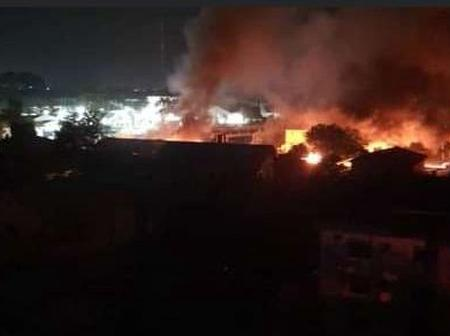 Tension In Owerri As Unknown Gunmen Set Owerri Prison On Fire & Many Prisoners Escape
