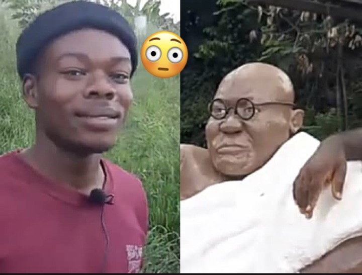 "a657d779b8858ad4d3a85057f5d24c79?quality=uhq&resize=720 - Young Man Who Did Akufo-Addo's ""4 More Nana"" Statue Finally Speaks. Unfolds A Secret To The Public"