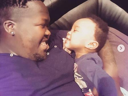 Heavy K and his first son, Juju.