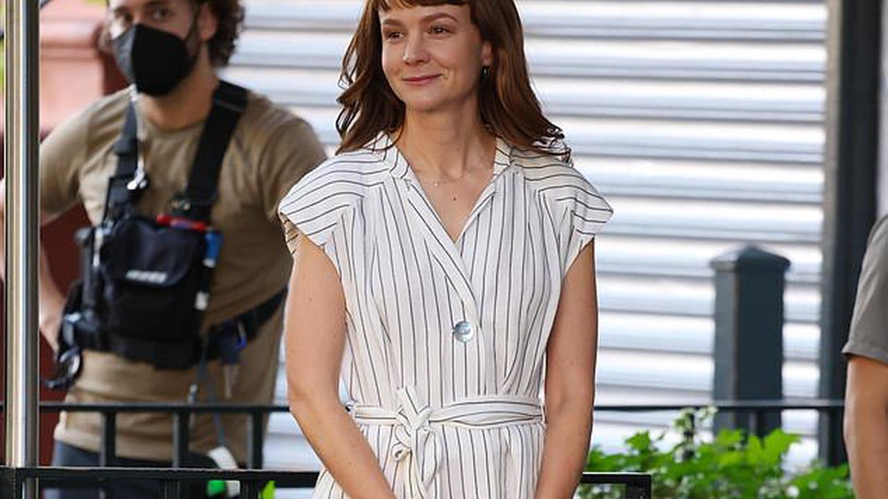 Carey Mulligan throws herself into character as she and co-star Zoe Kazan film She Said about downfall of disgraced Harvey Weinstein