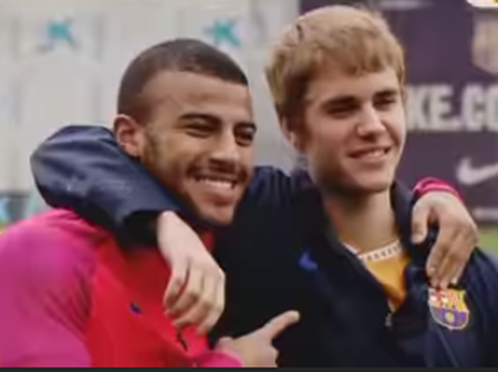 American singer, Justin Bieber Plays Football with Neymar (Photos & Video)