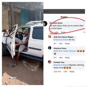 This man was exposed by different ladies after he borrowed a car to get a girlfriend.