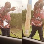 Reactions as Uhuru is Filmed Strolling Along the Road (VIDEO)