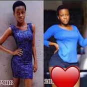 Is it possible for a girl to gain such weight in just 1 year? How possible See pictures