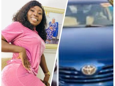 Popular Actress Oluwatobi Adekoya Buys A Brand New Car