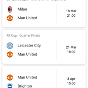 Manchester United Next Seven Fixtures - How Many Points Can They Get From Their EpL Matches