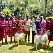 Former Prime Minister Raila Odinga Receives a Delegation From Narok