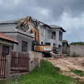 Business man demolished girlfriend's house as she decided to end the relationship