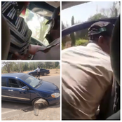 Man narrates how officers almost got him killed while he was driving with his car in Abuja (Photos)