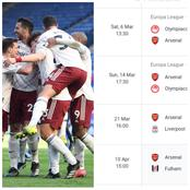 After Arsenal Won In The EPL, Checkout Their Next 8 Matches