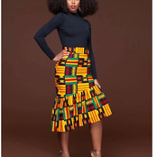 Ankara Skirt For Cooperate Style