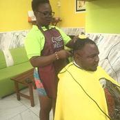 Voici les images de la fille pratiquant le métier de coiffeuse hommes qui suscitent des commentaires