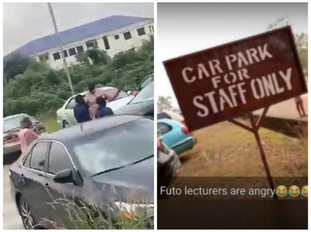 See what Futo lecturers constructed at the car park days after student occupied parking space