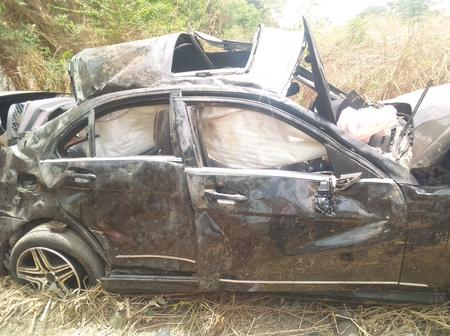 A Ghastly Motor Accident In Abeokuta Landed Occupants In Hospital