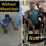The Crippled Man Who Did Baby Dedication In Church Finds Favour, See What A Man Of God Gave Him