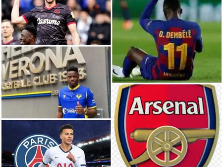 UPDATE: Chelsea Centre Back On The Verge Of Loan, Update On Dembele, Dele Alli, Arsenal And Others