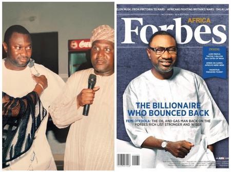 Nigeria Billionaire Femi Otedola Shared a Throwback Picture of Himself 16 Years Ago.