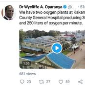 Relief For Kakamega Residents After This Announcement By Governor Oparanya