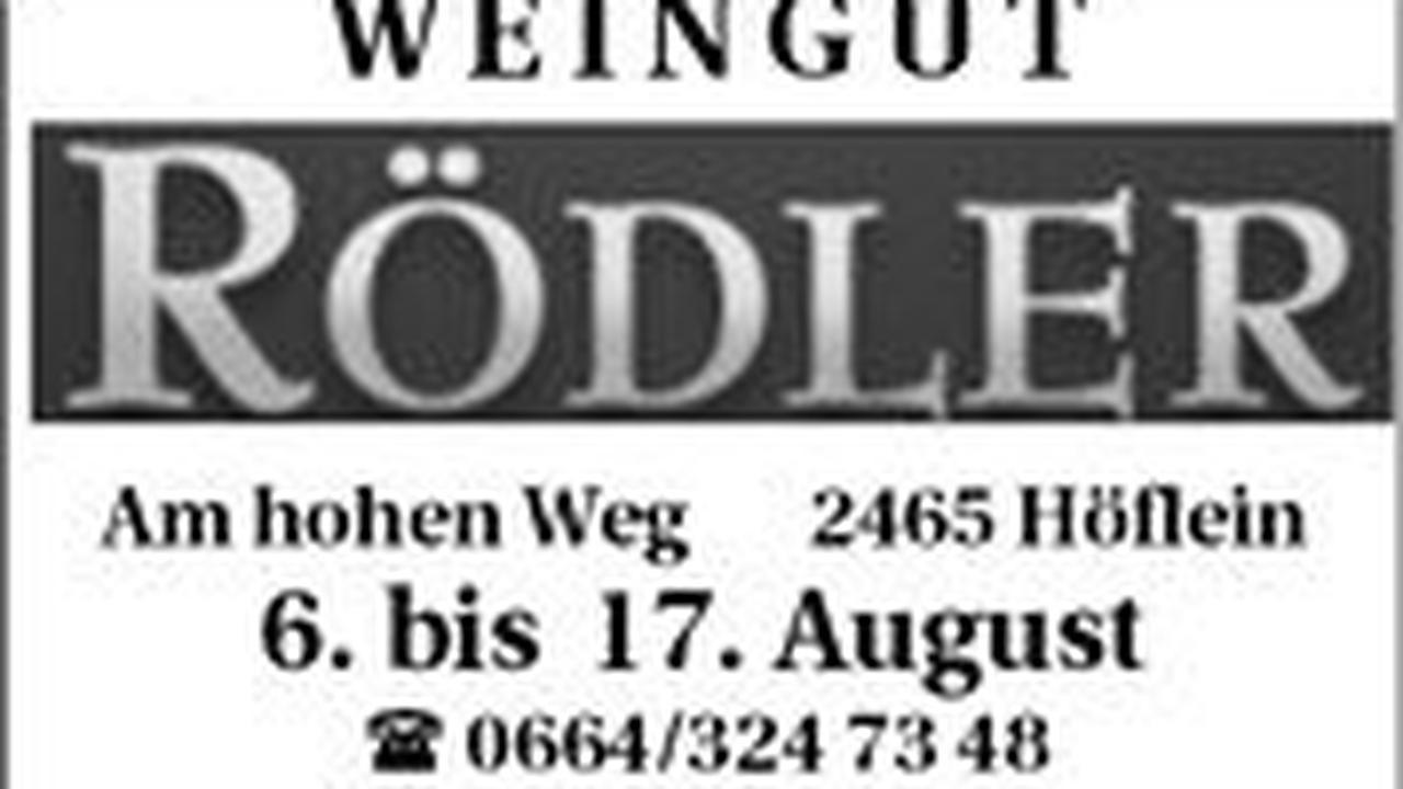 Weingut & Buschenschank Rödler.