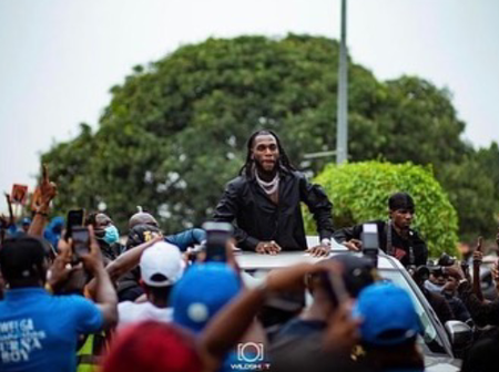 Checkout Burna Boy's home coming after the Grammy in portharcourt