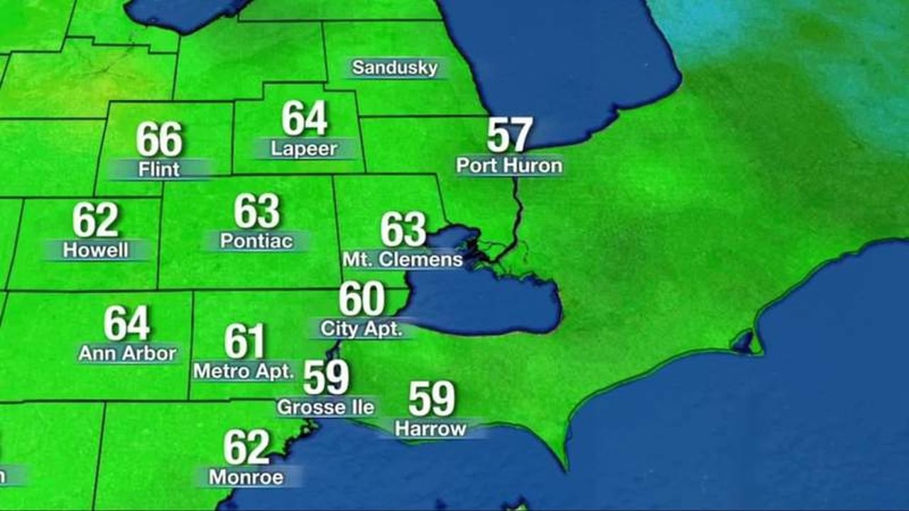 Monday mainly sunny, hot with highs reaching low to middle 90s