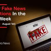 Major Fake News Rejections In the Past Week Please Don't Be Fooled by Them!