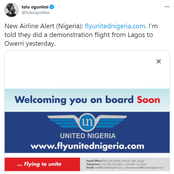 See The New Airline About To Commence Operation Soon In Nigeria