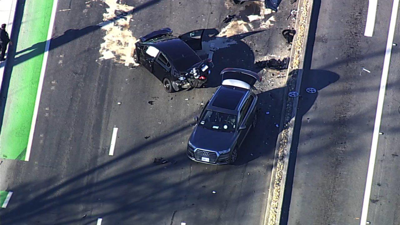Freeway shooting suspect arrested after leading CHP on car chase that ended in crash in Fremont