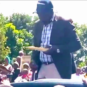 How DP Ruto Balanced Between Eating And Talking While In The Streets Of Murang'a [Video]