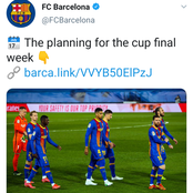 After El Clásico defeat against Madrid, Barcelona has revealed its plans for the Cup Final this week