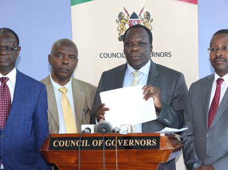 Looming Trouble In Uhuru's Government As Council Of Governors Delivers Bad News