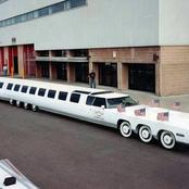 Photos Of The Longest Car In The World That Has Swimming Pool And Helicopter Landing Space