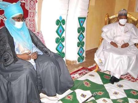 Photos: Emir of Zazzau, Amb. Nuhu Bamali Receives Minister of Environment Dr. Muhammad in his Palace