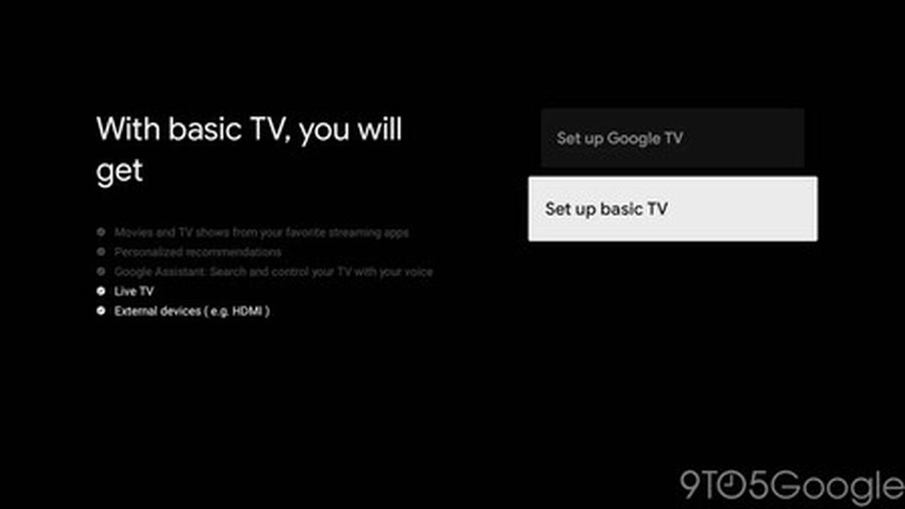 """Google TV aura un """"mode de base"""" qui transformera votre Smart TV en """"boîte stupide"""" de toute vie"""