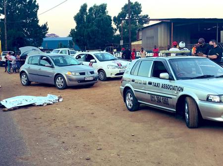 A Taxi association official allegedly shot a motorist for giving someone a lift.