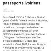 Politique, dernière minute: selon RFI,  Laurent Gbagbo vient de récupérer ses passeports