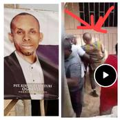 Video: Pastor Goes Physical With His Neighbour, Grabs His Neck In The Middle Of An Argument
