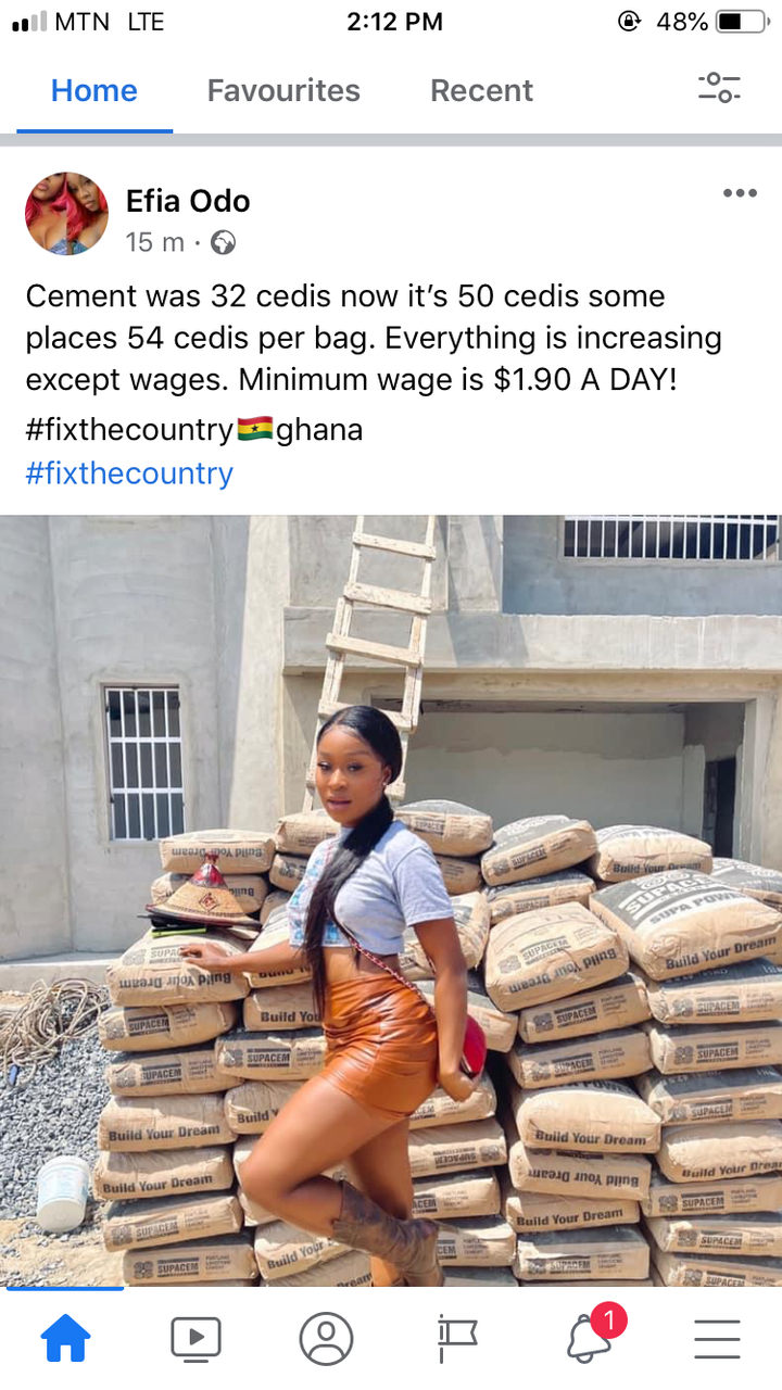 a84dd36d997142fea4286933deaf97c0?quality=uhq&resize=720 - Everything Is Increasing Under This Gov't Except Wages - Efia Odo Laments On Price Of Cement Bag