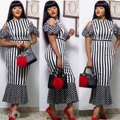 Ladies, checkout 5 cool photos of strip gowns you will love