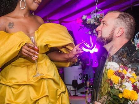 Tv Presenter Anita Nderu Shows Off New White Boyfriend During Her Extravagant 31st Birthday Party